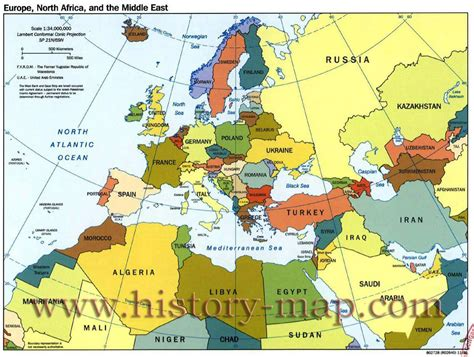 Europe Africa Map by World Map Europe Africa Centered With Countries Capitals