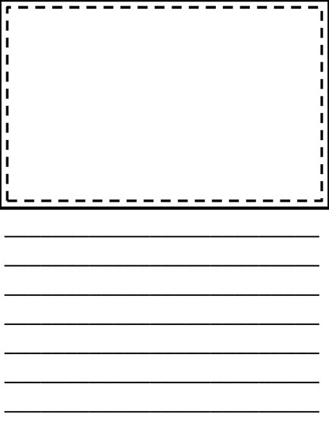 printable lined paper with drawing box search results for lined writing paper with picture box