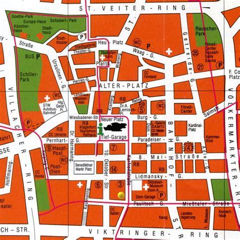 klagenfurt map map of klagenfurt