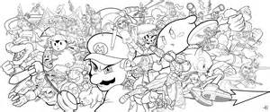smash bros coloring pages smash bros by on deviantart