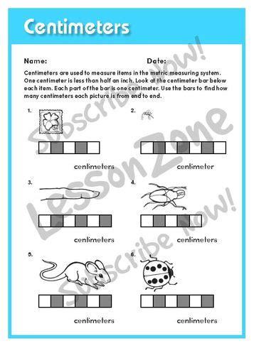 Lesson Zone Au Centimetres 2 Lesson Zone Au Measurement 2