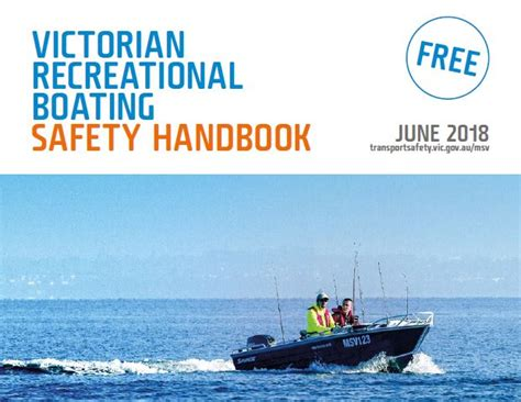boating license victoria recreational boating safety handbook transport safety
