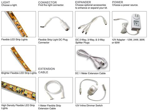 how to power led light strips how to build an led light kit diode led