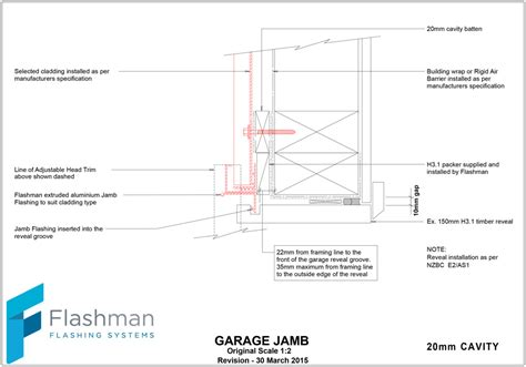 Overhead Door Jamb Detail Flashman Flashings Flashclad