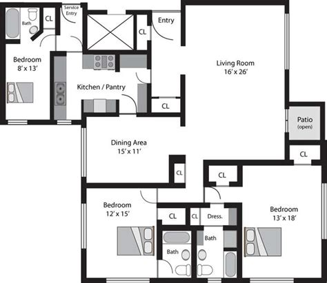 typical floor plans of apartments el royale apartments los angeles ca apartment finder