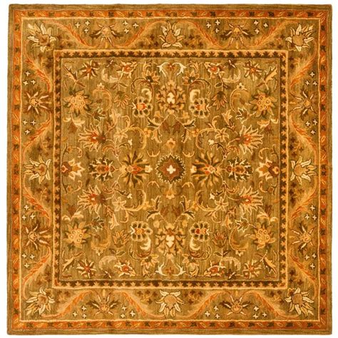 6 x 6 area rugs safavieh antiquity olive gold 6 ft x 6 ft square area rug at52a 6sq the home depot