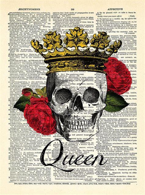 awesome flowery crown u0026 skull skull crown flower print vintage by