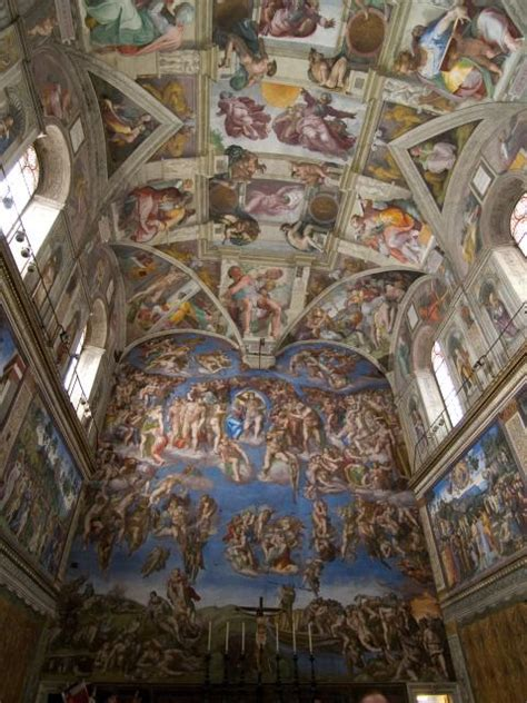 The Painting On The Ceiling Of The Sistine Chapel by Sistine Chapel Nen Gallery