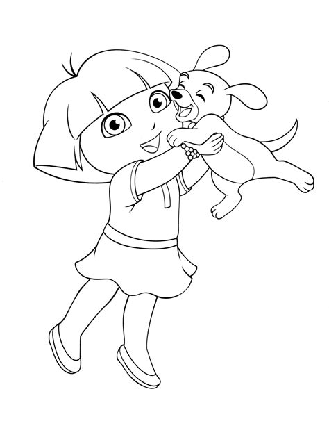 simple dora coloring pages dora the explorer coloring pages coloringsuite com