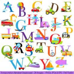 transportation alphabet clipart clip construction