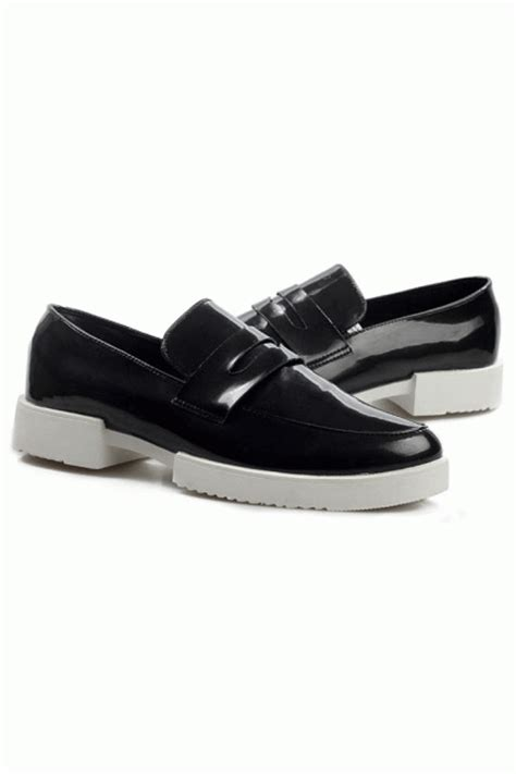 mens white patent leather loafers patent leather white thick sole black oxford mens shoes