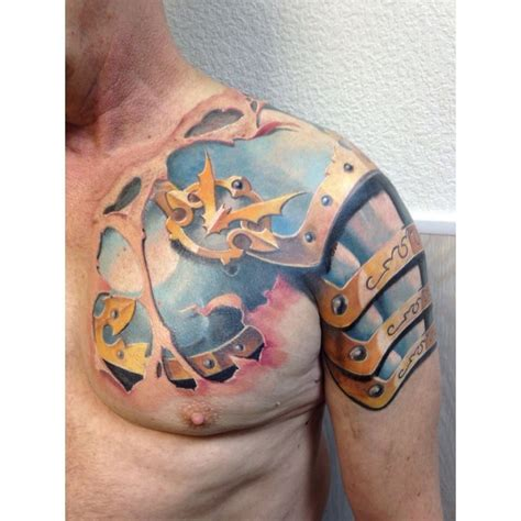tattoo 3d armor armor tattoo shoulder best tattoo ideas gallery