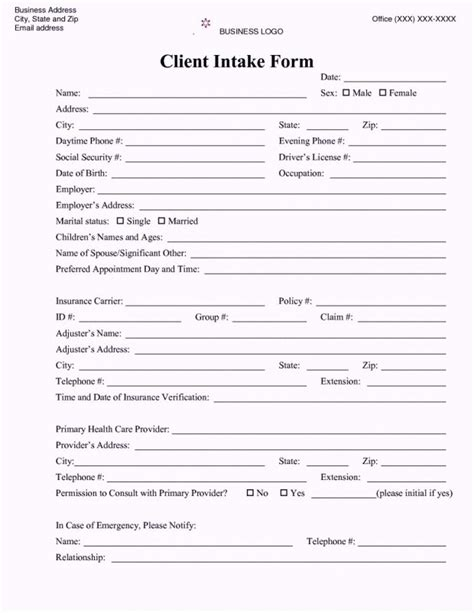 Client Intake Form Template 33401885 Law Firm Photograph Graceful Runnerswebsite Client Intake Form Template