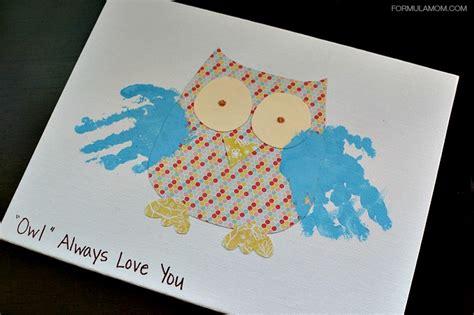 crafts for grandparents grandparents day handprint owl gift grandparentsday
