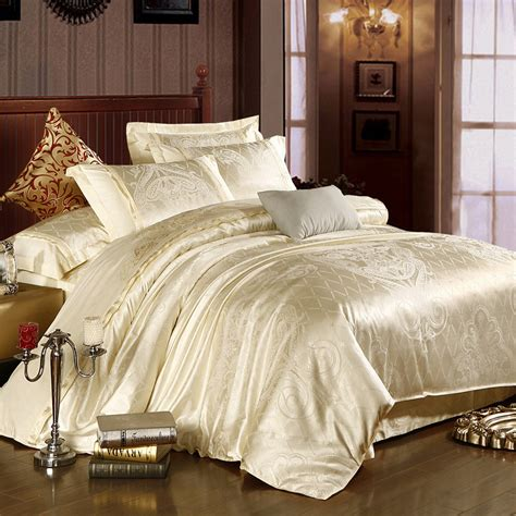 Warehouse Bedding Sets Aliexpress Buy Satin Silk Embroidery Jacquard Bedding Set Comforter White Duvet Cover