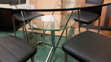 glass dining tables for sale glass table and 4 chairs used furniture manchester