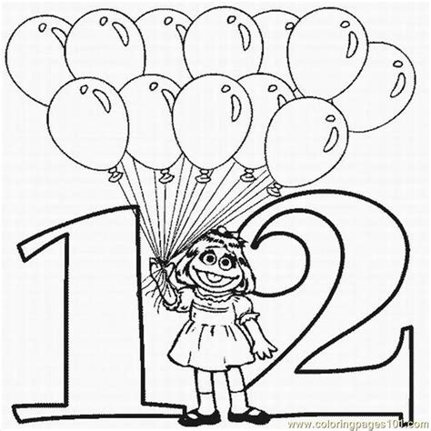 Number 12 Coloring Page Getcoloringpages Com Coloring Pages For 12 And Up