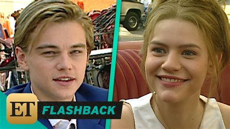 claire danes young romeo and juliet watch leonardo dicaprio and claire danes gush over each