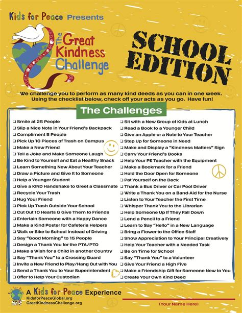 challenge school students all the country are room for