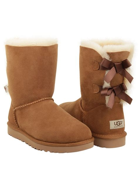 with ugg boots ugg australia bailey bow boots 1002954 chestnuts ebay