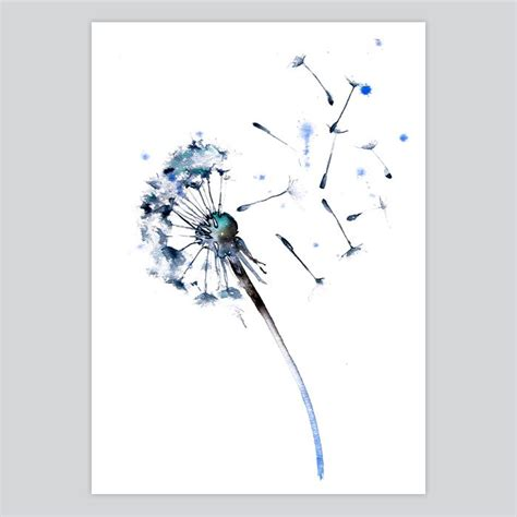 watercolor fairy tattoo designs dandelion watercolor print somnia at artollo