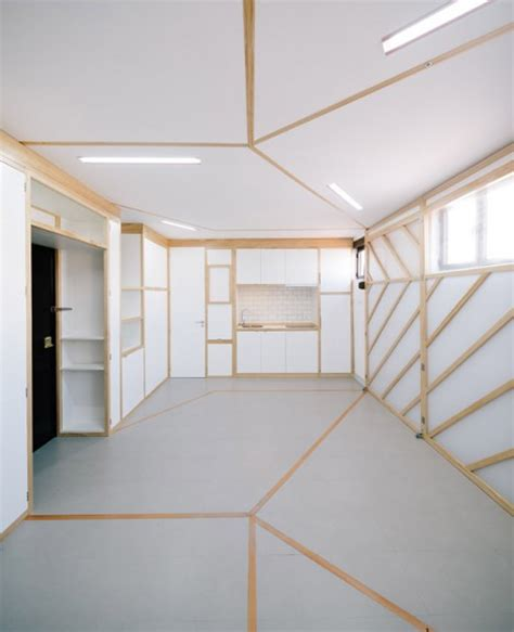 Origami Screen - origami apartment instantly shape shifting micro