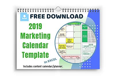 How To Use Your Marketing Calendar Template Free Template Download Say More Services 2018 Marketing Calendar Template