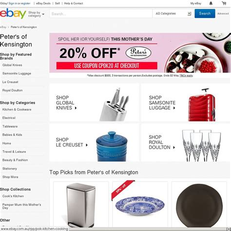 ebay ozbargain 20 off everything peter s of kensington ebay ozbargain