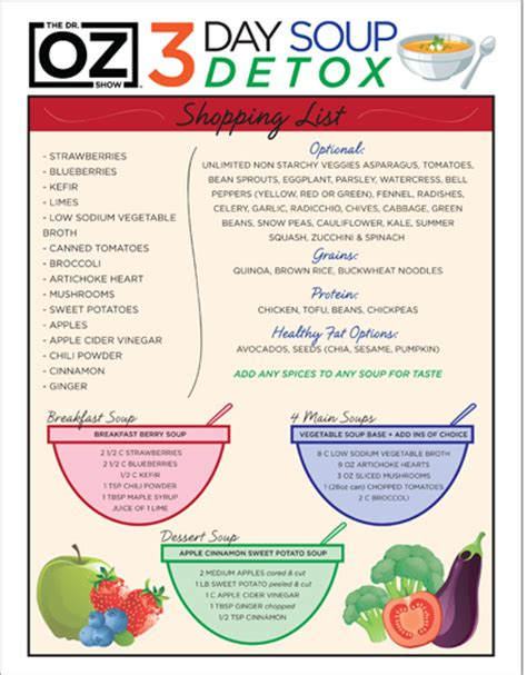 Best 2 3 Day Detox by Dr Oz S 3 Day Souping Detox One Sheet The Dr Oz Show