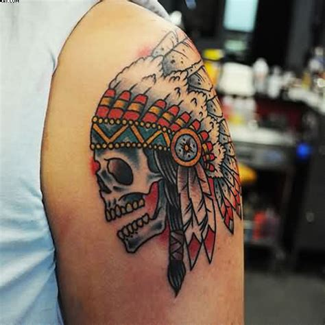 indian traditional tattoo designs 44 indian chief skull tattoos