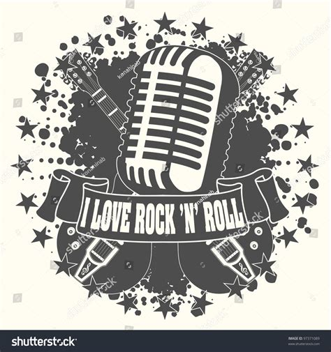 What Is Rock And Roll What Was symbol rocknroll stock vector 97371089