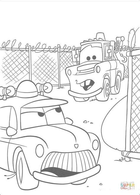 sheriff cars coloring pages sheriff and mater coloring page free printable coloring