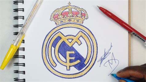 tutorial logo real madrid how to draw the real madrid logo using ballpoint pens