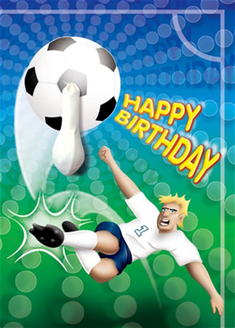football themed birthday ecards sport no1 striker football birthday card buy