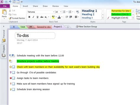 onenote templates onenote to do list template free to do list