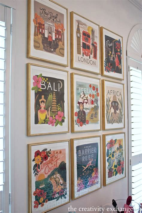gallery wall art 2016 rifle paper co frameable calendars and gallery wall