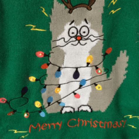 light up cat sweater electrocuted led light up cat