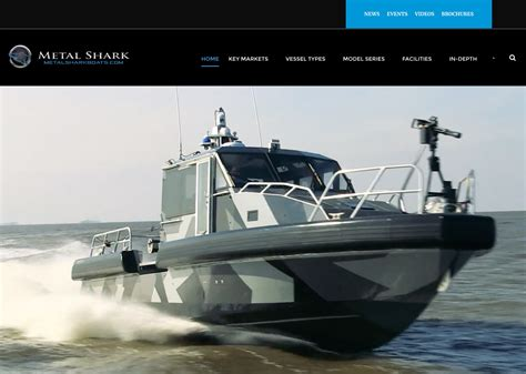 metal shark boats franklin february 11 2017 metal shark launches new website