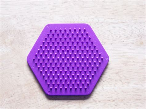 perler bead paper perler bead purple hexagon pegboard ironing paper