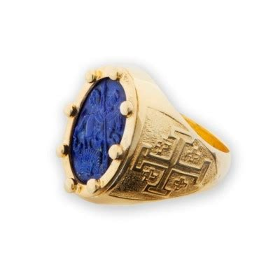 st george the ring lapis on gold plated sterling