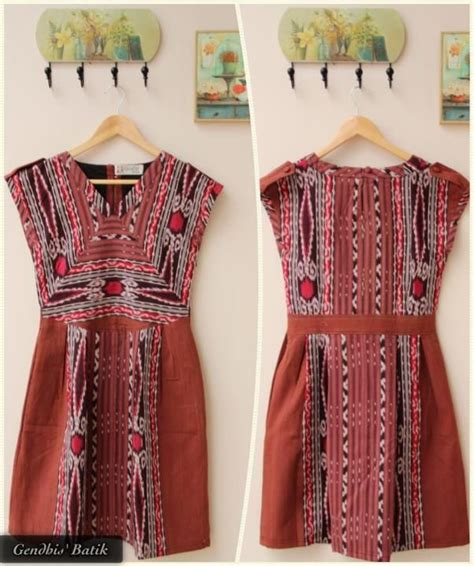 Dress Batik Gendhis amelia gendhis tenun batik dress ikat and