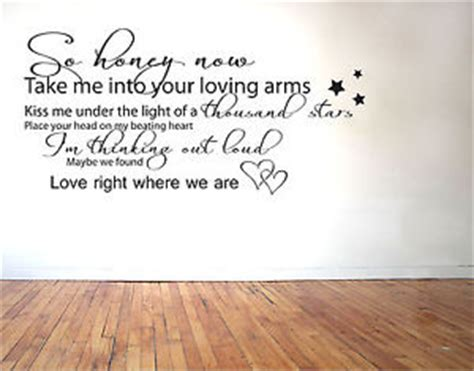 testo touch me ed sheeran thinking out loud lyrics vinyl wall sticker