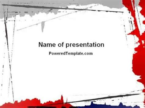 Free Blood Splatter Theme PowerPoint Template by