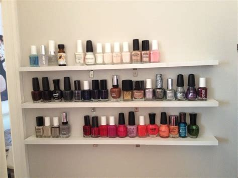 Thin Wall Shelf Diy Nail Floating Shelves Salon