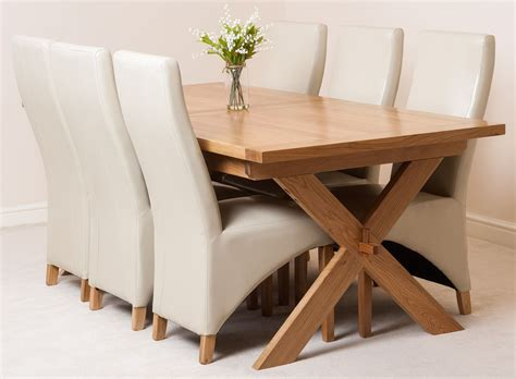 vermont extending kitchen solid oak dining table and 6