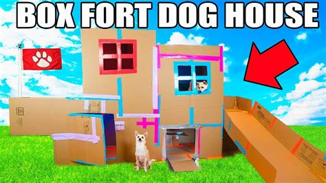 dog house game two story box fort dog house elevator slide tv more youtube