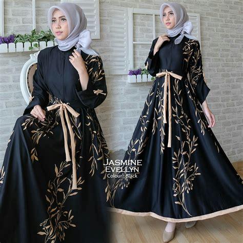 Maxi Dress Gamis Baju Muslim Wanita Dyna Jumbo Maxi baju gamis modern maxi busana muslim remaja