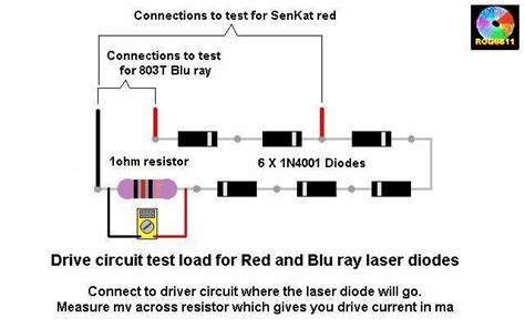 how to test power diode setting diode on driver and dummy load laser pointer forums discuss laser pointers