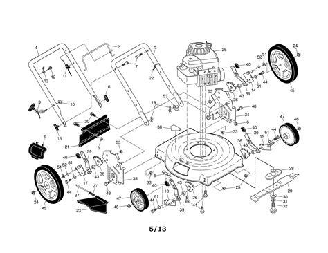 sears lawn mower parts diagram lawn mower diagram wiring diagram with description