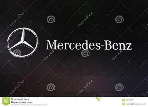 mercedes benz logo editorial image image